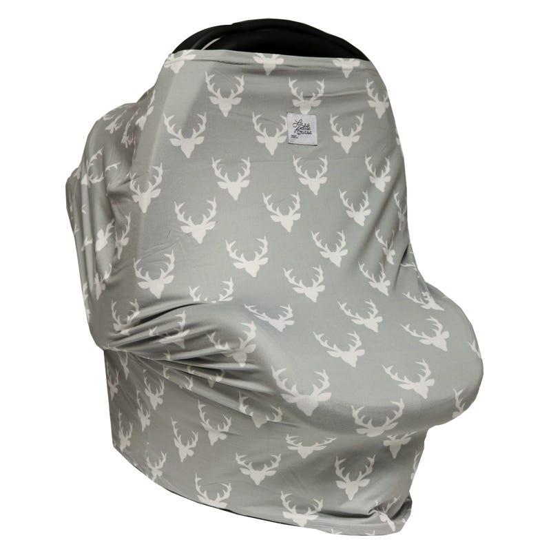 3 in 1 Car Seat Cover/Nursing Scarf - Deer Pattern