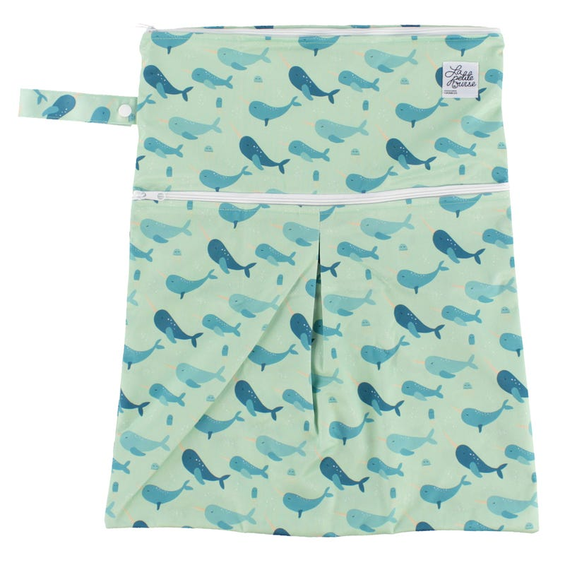 Large Wet Bag Double Openning -  Narwhal