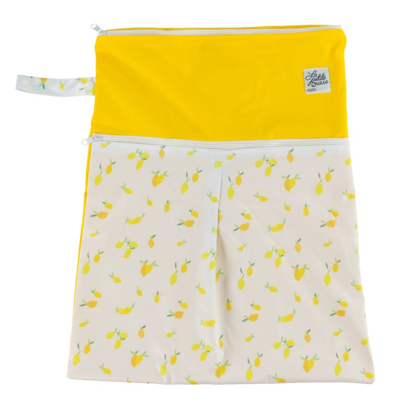 Large Wet Bag Double Openning - Lemons