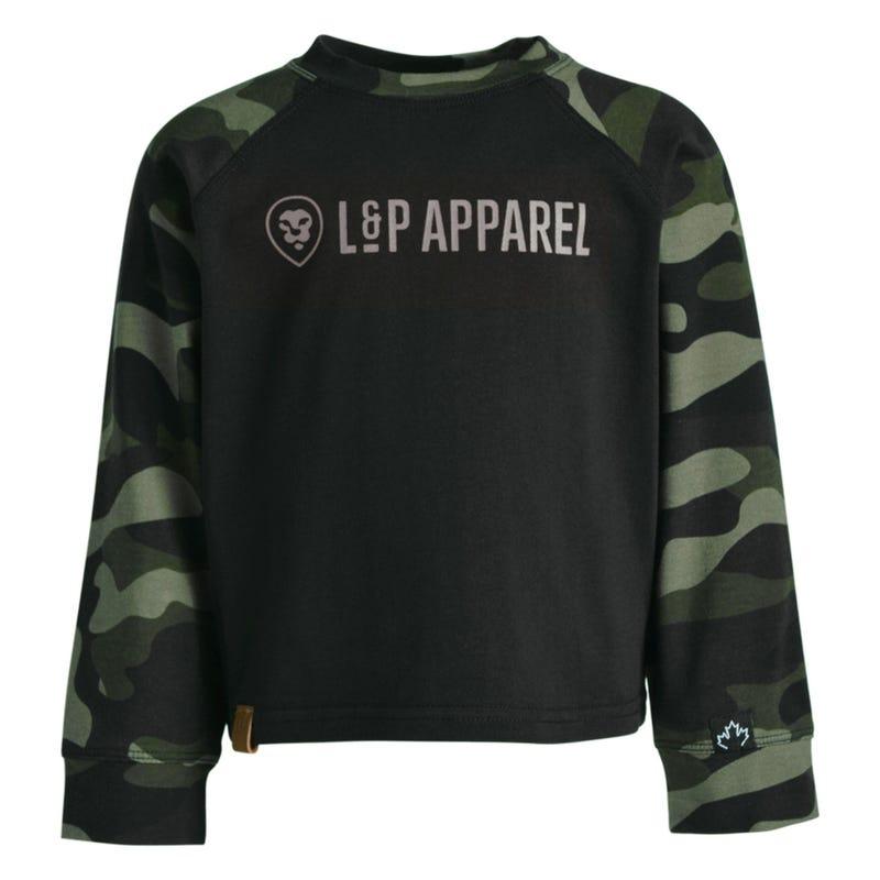 T-Shirt Raglan Camo Memphis 2-8ans