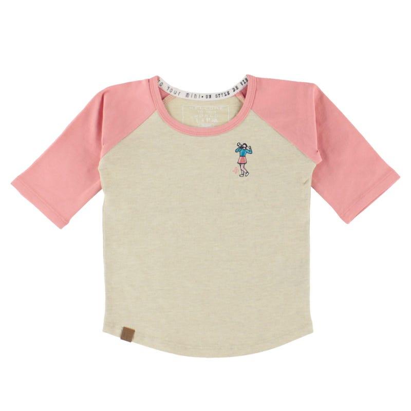 T-Shirt Raglan Cheer 6-24m