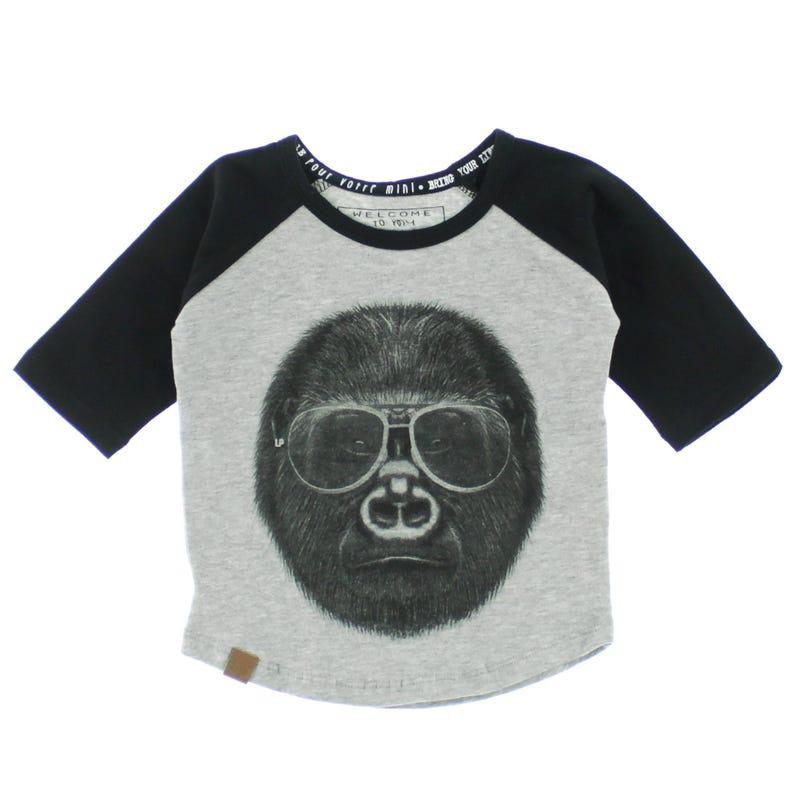 T-Shirt Raglan Gorille 6-24m