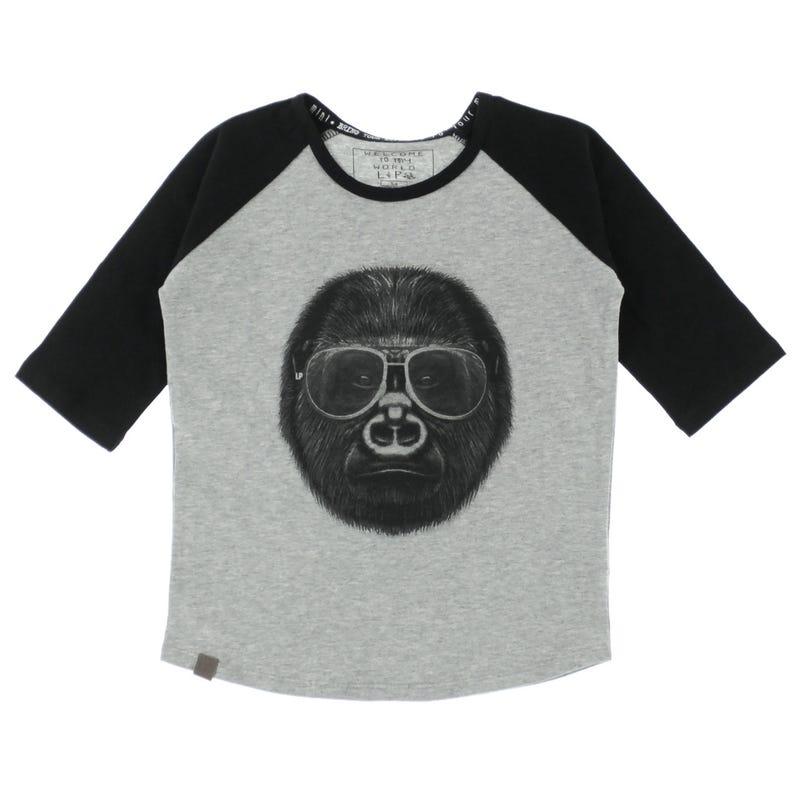 T-Shirt Raglan Gorille 2-6ans