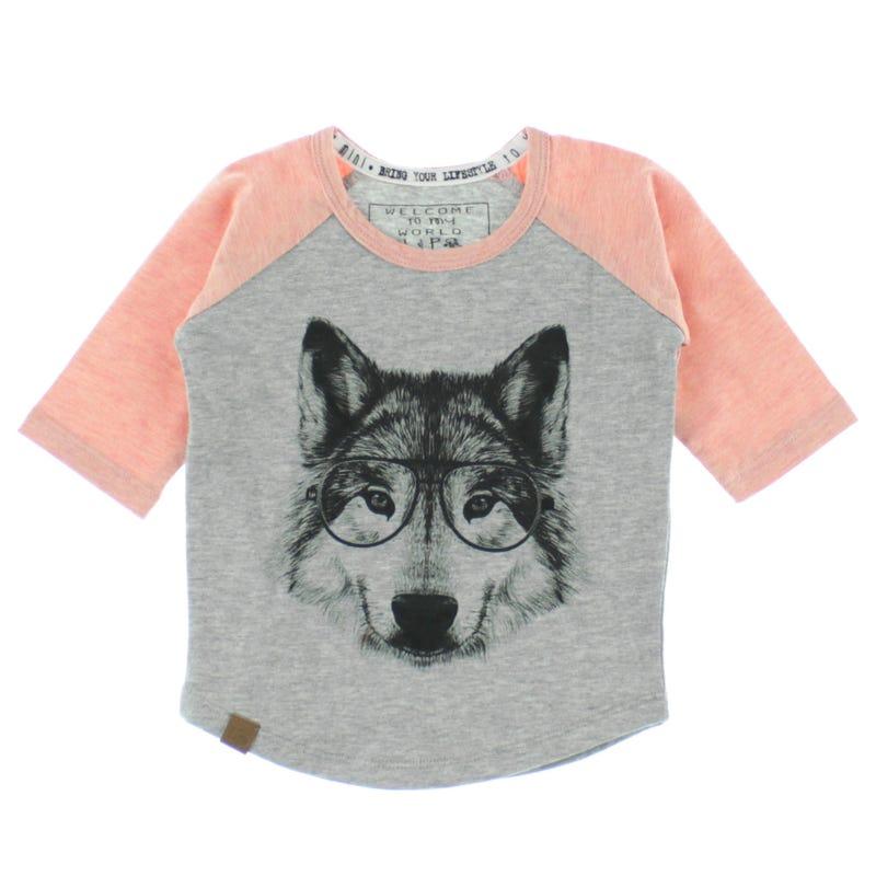 T-Shirt Raglan Loup 6-24m