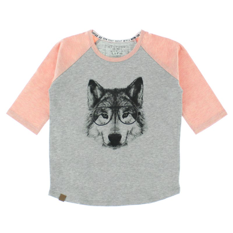 T-Shirt Raglan Loup 2-6ans