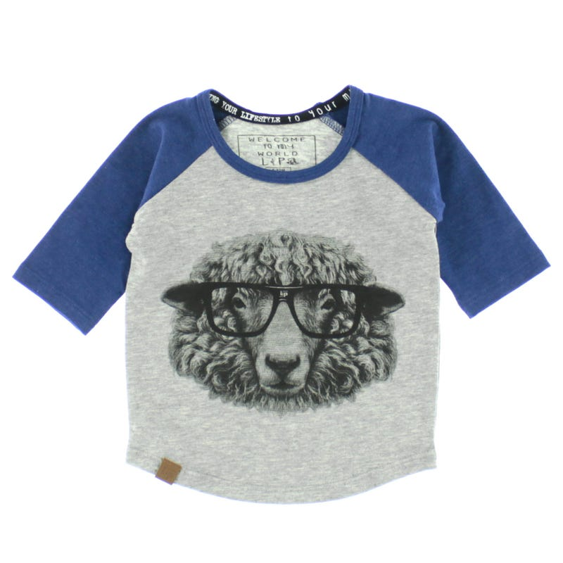 Baseball Style Jersey 6-24m - Sheep