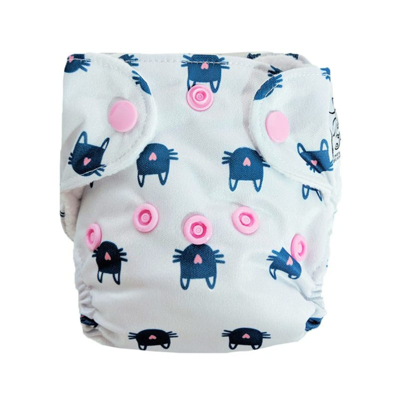 Newborn Cloth Diaper 5-10lbs - Whiskers