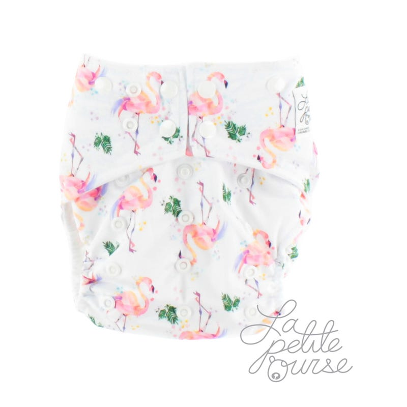 Cloth Diaper 10-35lbs - Flamingo