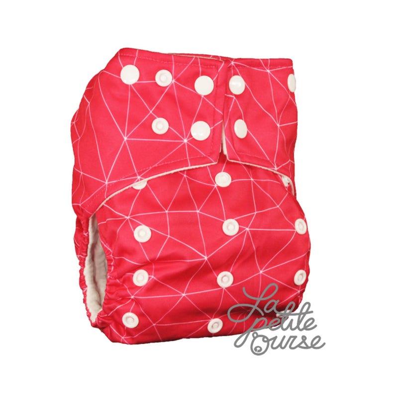 Cloth Diaper 10-35lbs - Pink Geo