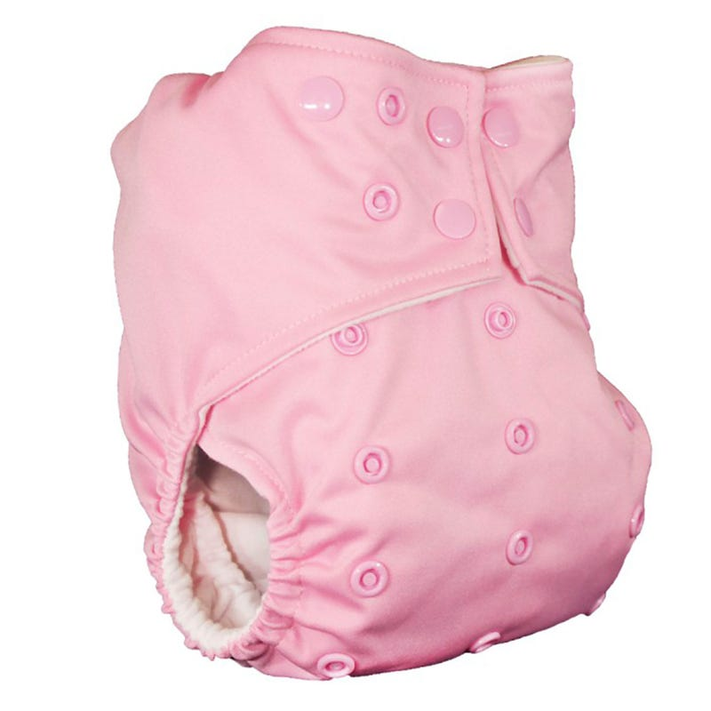 Cloth Diaper 10-35lbs - Baby Pink
