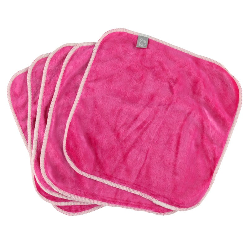 Washable Wipes Set of 5 - Pink