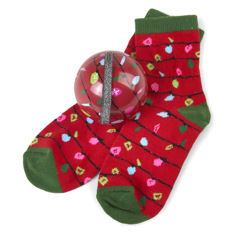 Gift Set Christmas Ornament and Socks 4-7 - Lights