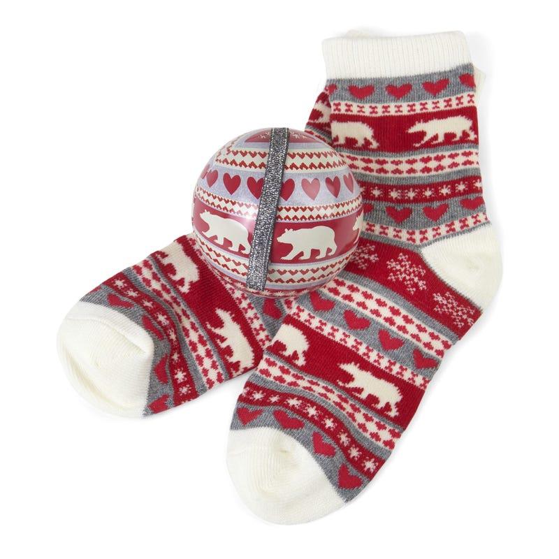 Gift Set Christmas Ornament and Socks 4-7 – Bear