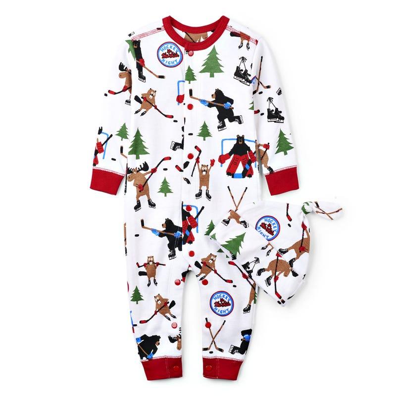 Hockey Combi Pajamas 3-24m