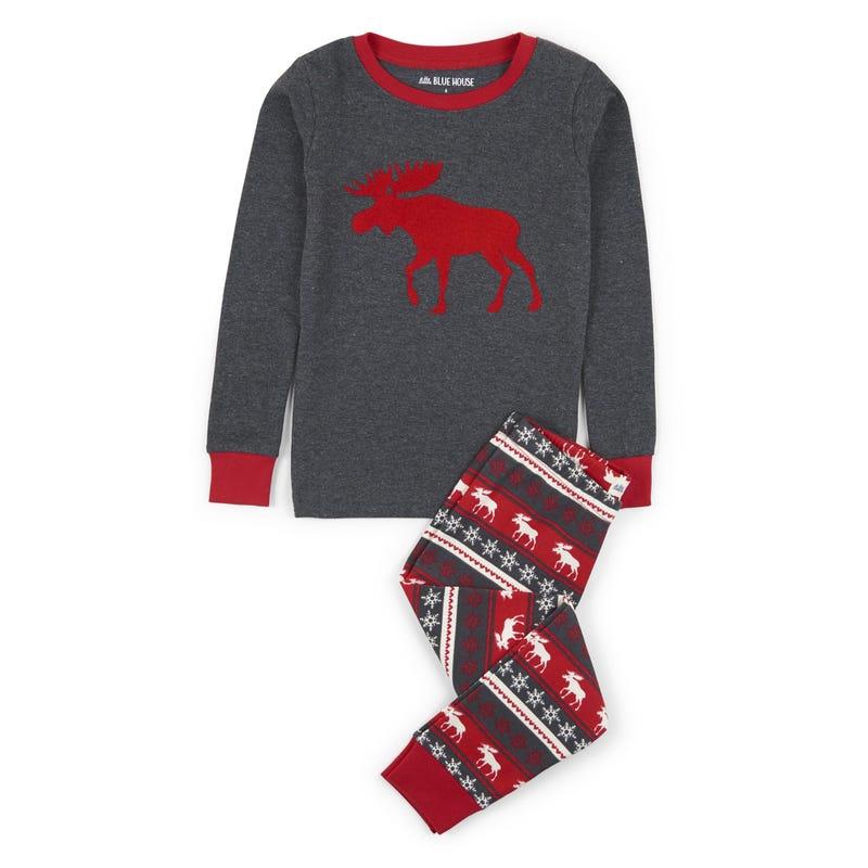 Moose 2pcs pajamas 2-10