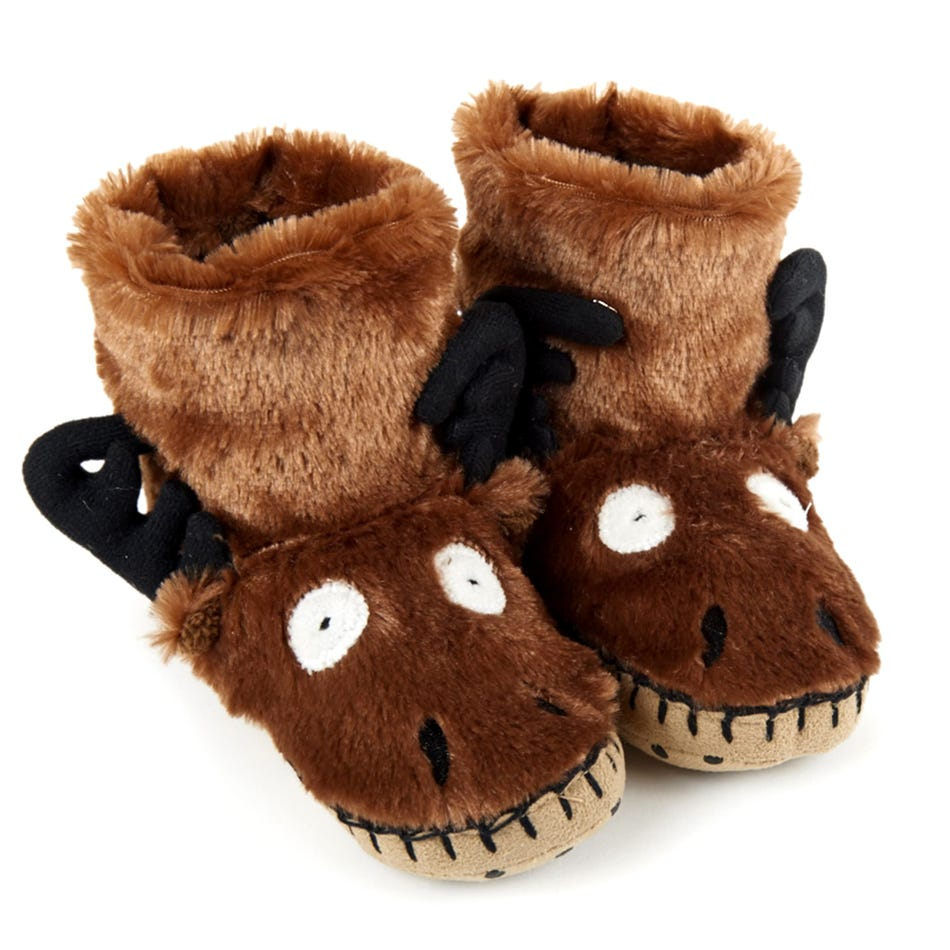 b1e5b0176a2d Little Blue House by Hatley Moose Face Slippers 2-8 - Clement