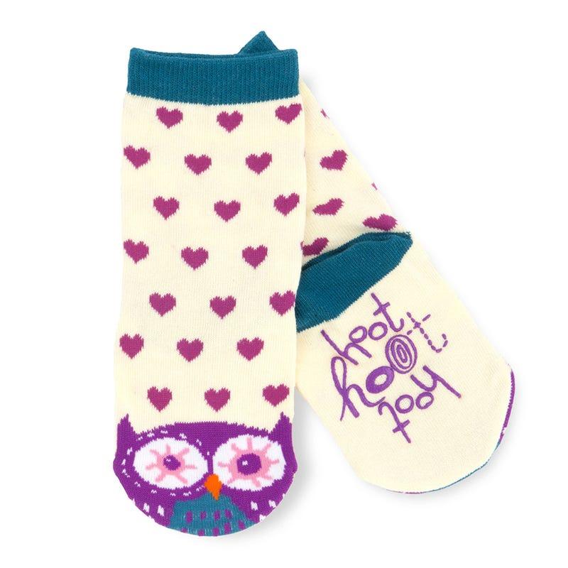 Anti-Slip Owl Socks 2-7y