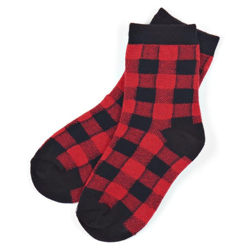 Buffalo check socks 2-7