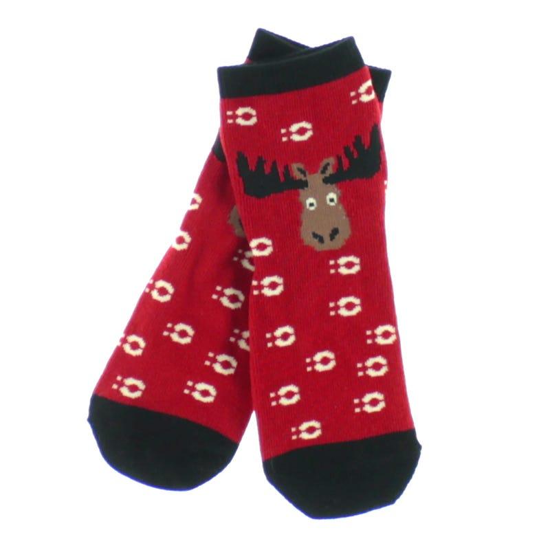 Anti-Slip Socks 2-7y - Moose