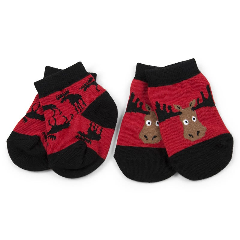 Socks Set of 2 0-12m - Moose