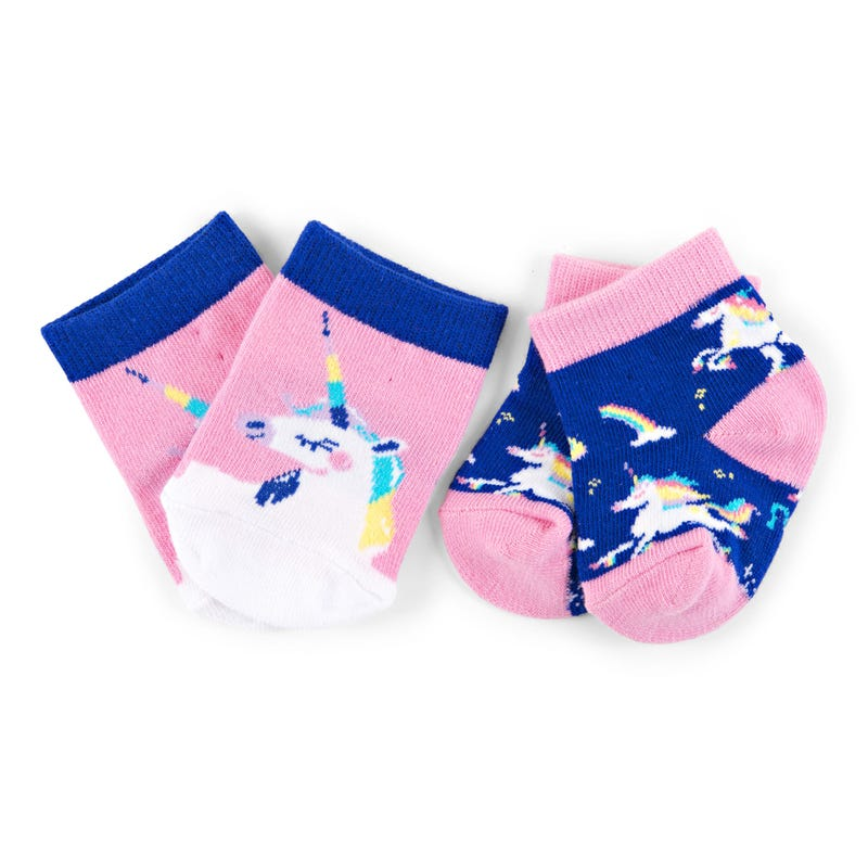 Socks Set of 2 0-12m - Unicorns
