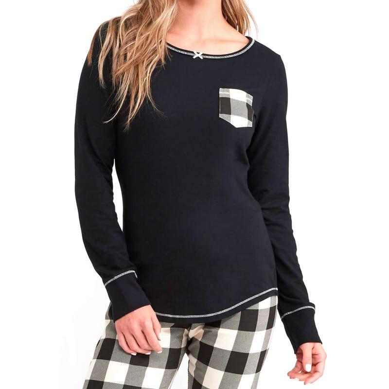 T-Shirt Ours Carreaux Adulte Femme