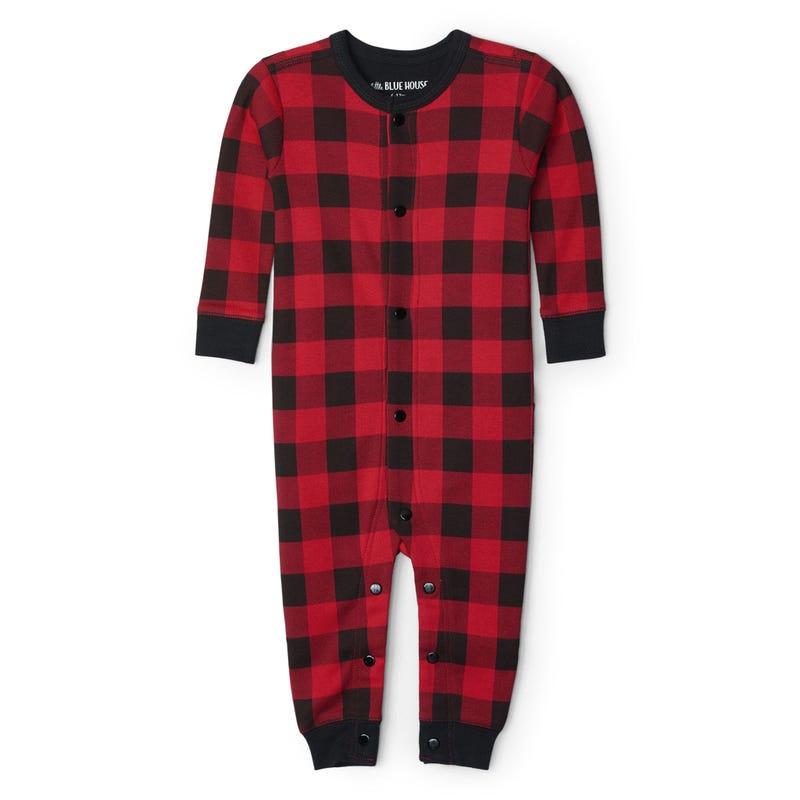 Moose Plaid Pajamas 3-24m