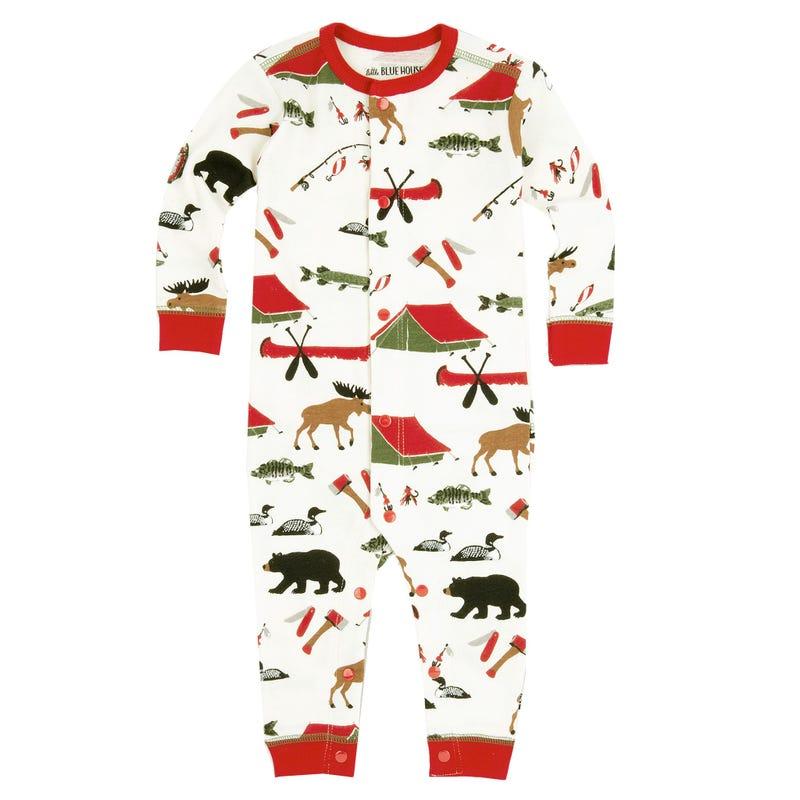 Pyjama Combinaison Camping 2-12ans