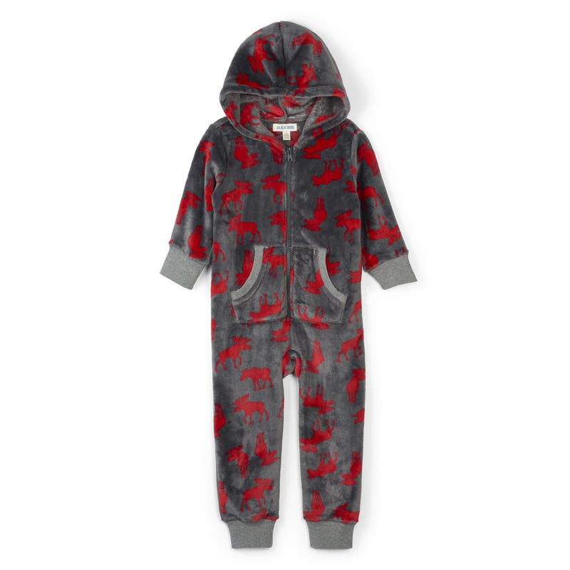 Moose hooded one-piece 3-24m