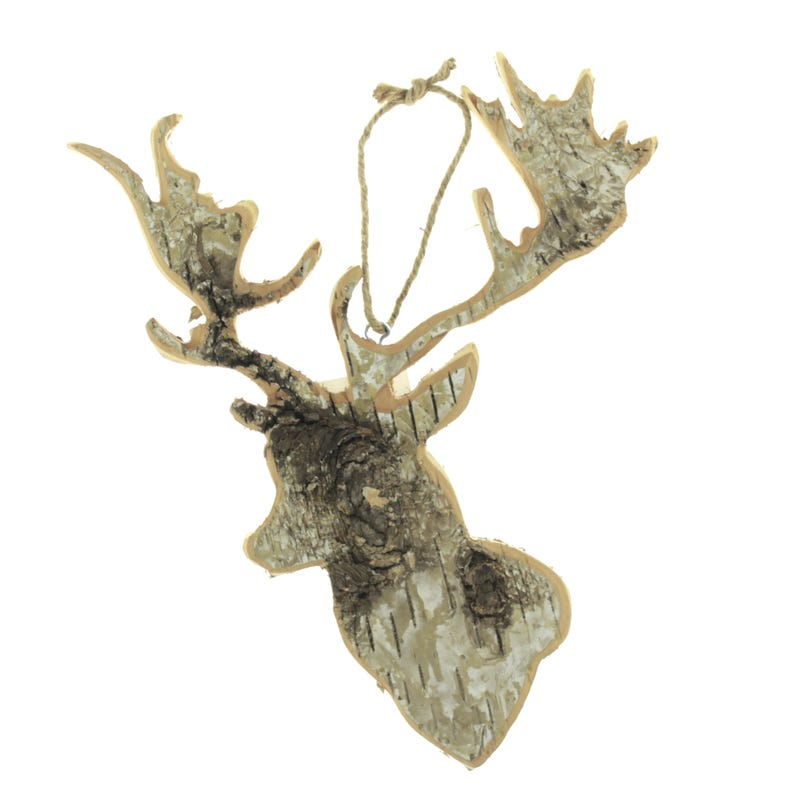 Decorative Wood Moose Head