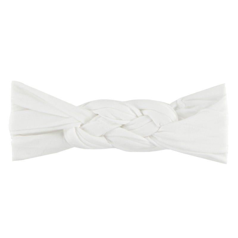 Bandeau Noeud Twinning Blanc
