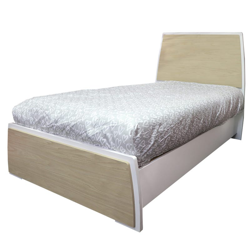 Twin Bed - White/Natural