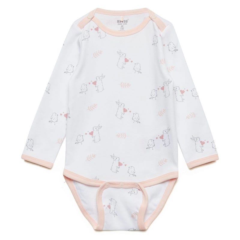 Bodysuit 0-6m - Bunnies