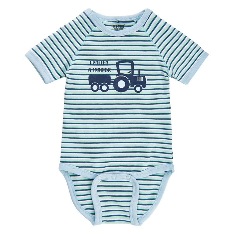 Tractor Striped Bodysuit 0-18m