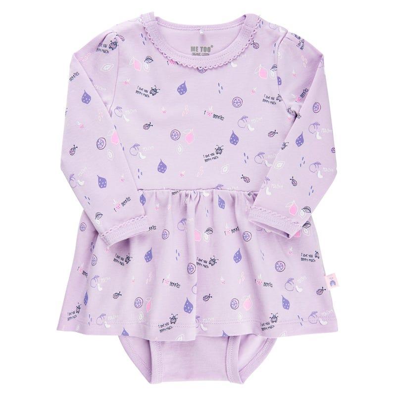 Flowers Berry Dress 0-18m