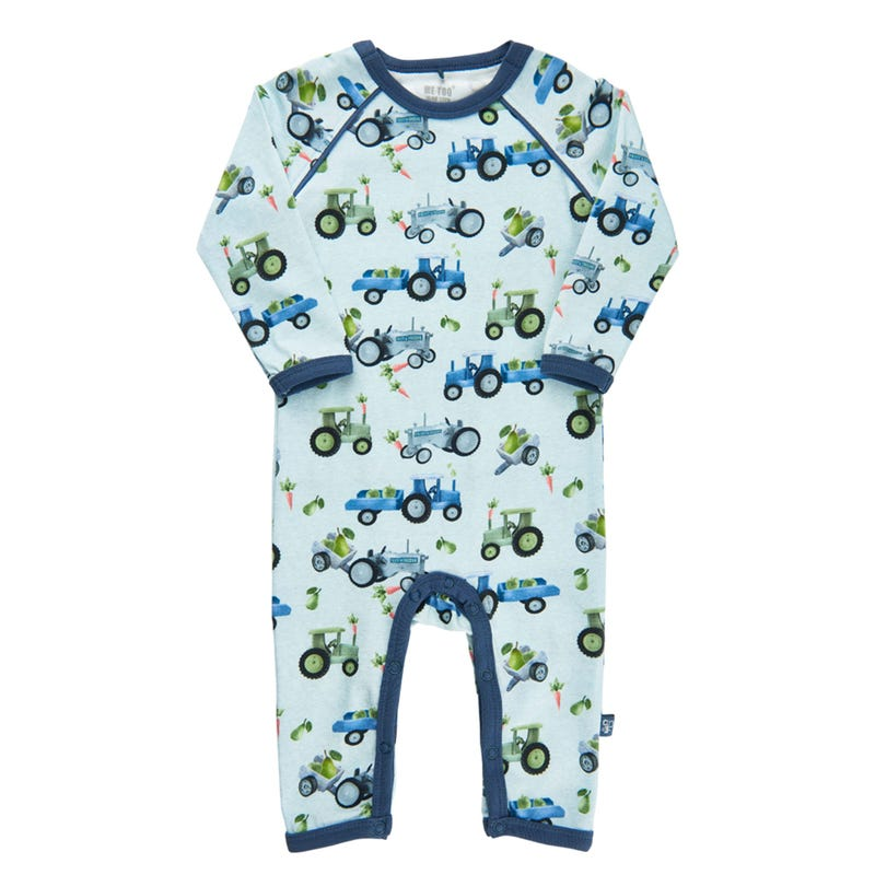 Tractor Printed Romper 0-18m