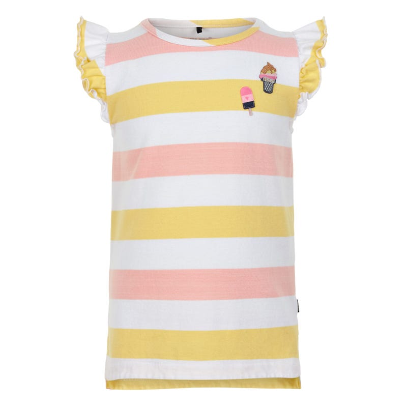 Flowers Striped T-shirt 3-6