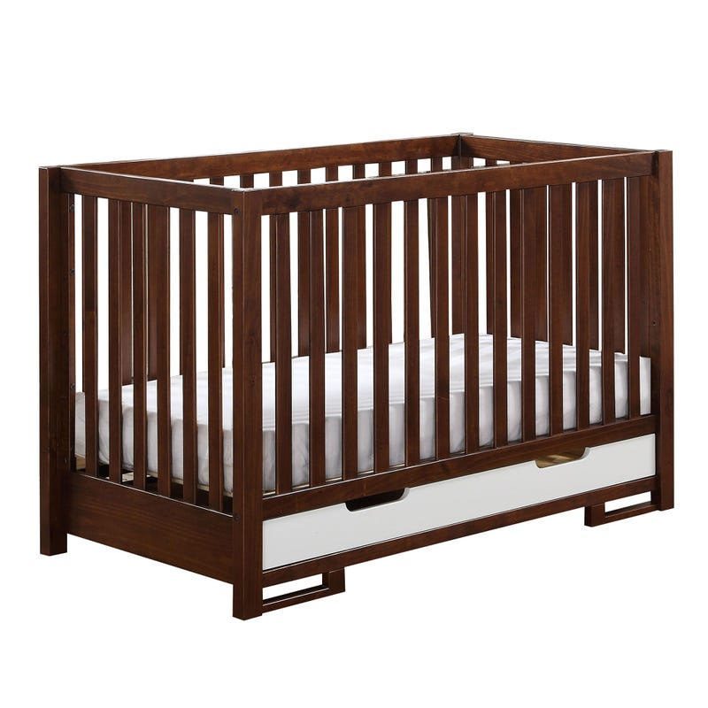 Crib Conversion - Amber Coffee/White