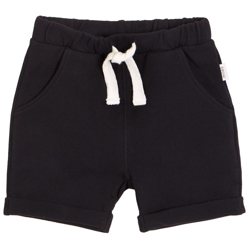 Basic Blakc Sweatshort 3-24m