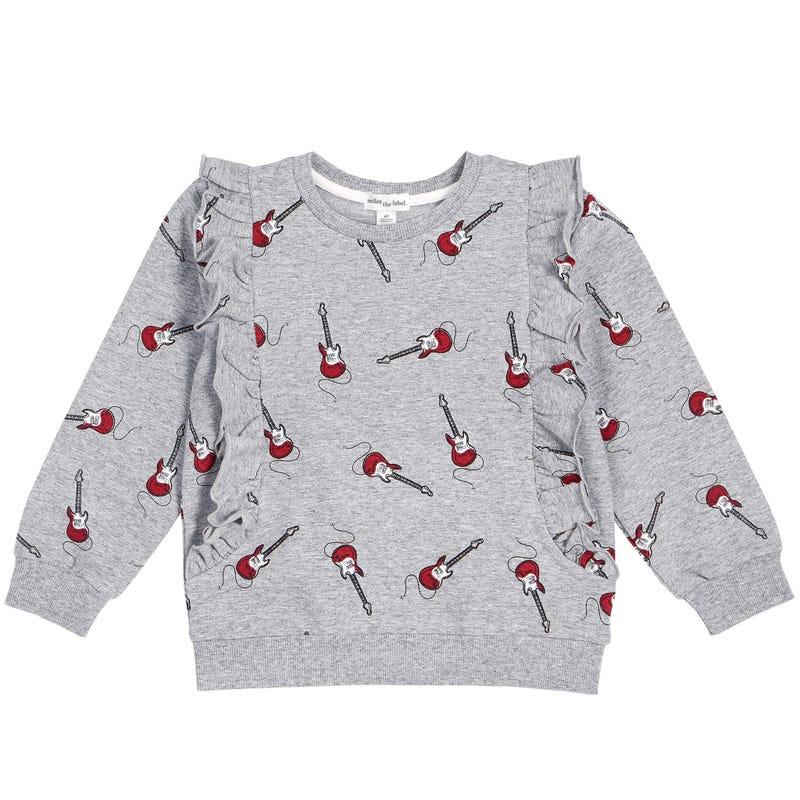 Band Frill Sweatshirt 3-7y