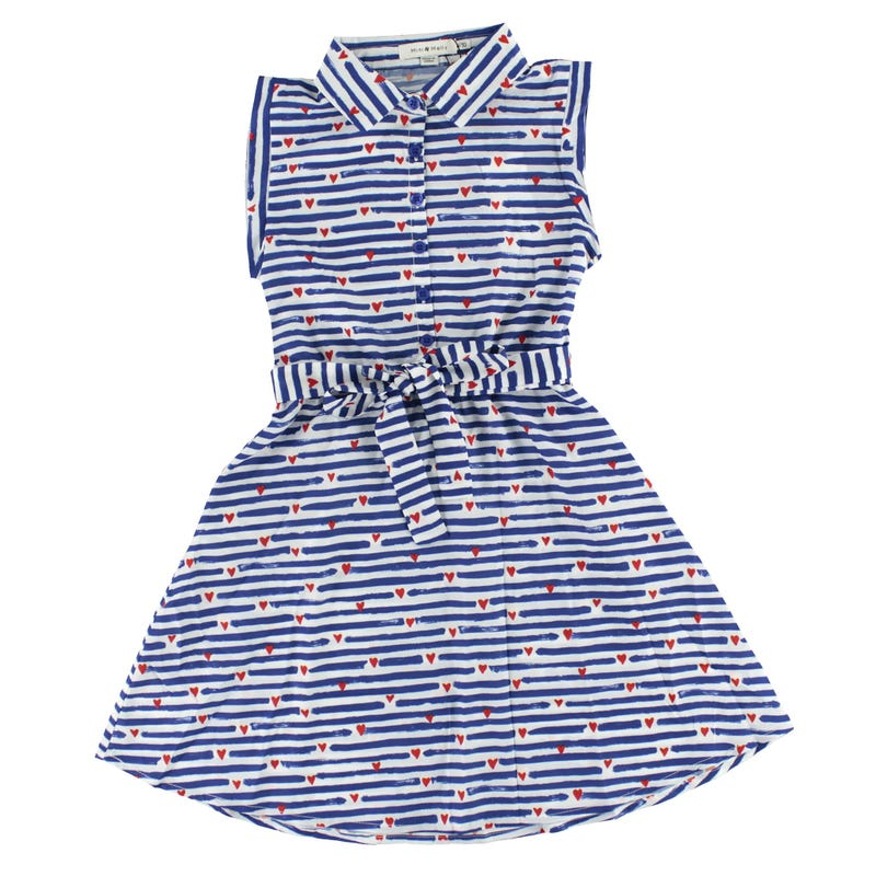 Striped Sleeveless Dress 8-14y