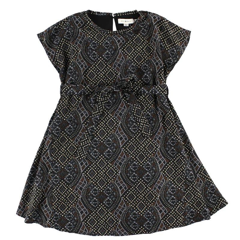 Printed s/s Dress 8-14