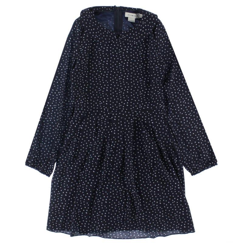 Long Sleeve Dress 8-14y - Polka Dots