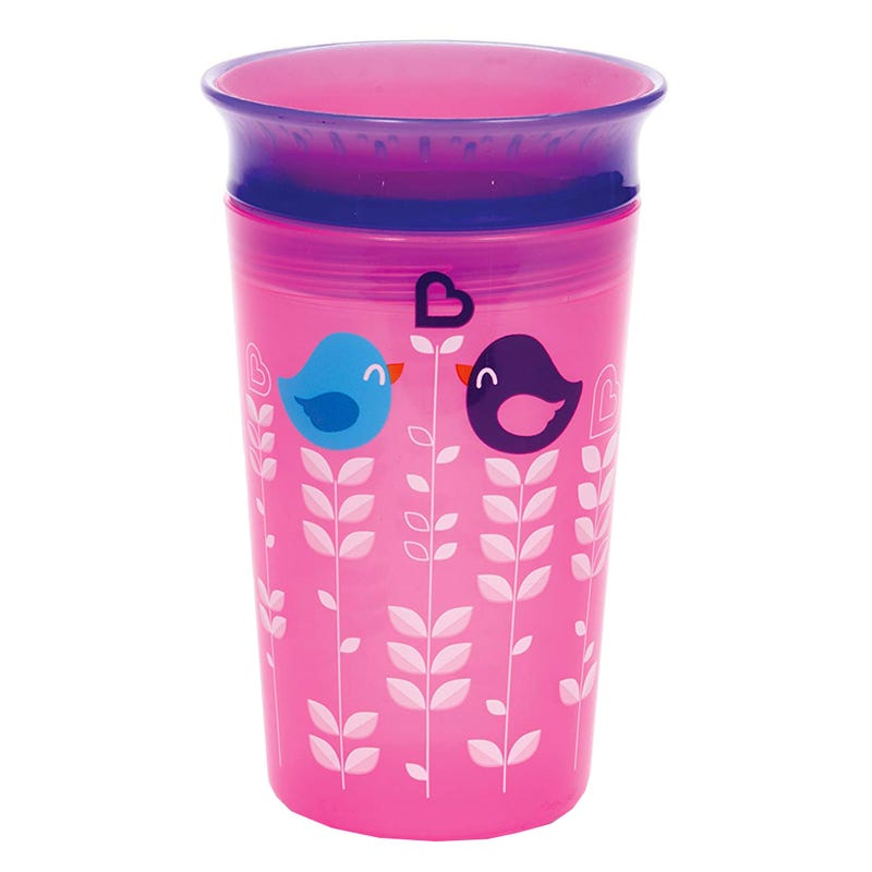Miracle 360 Deco Sippy Cup 9oz - Pink Bird