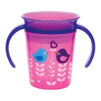 Miracle 360 Deco Trainer Cup 6oz - Pink Bird