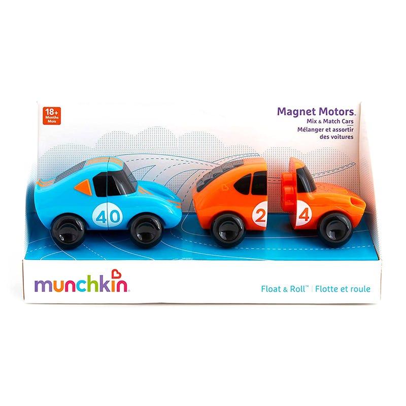 Voiture de Bain Paquet de 2 Magnétique - Bleu Orange