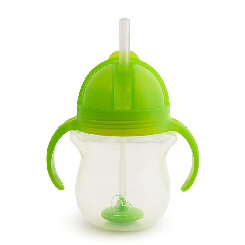 Click Lock Weighted Flexi-Straw Cup 7oz - Green