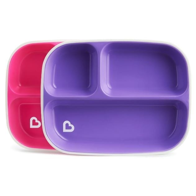 Splash Toddler Divided Plates - Pink/Purple
