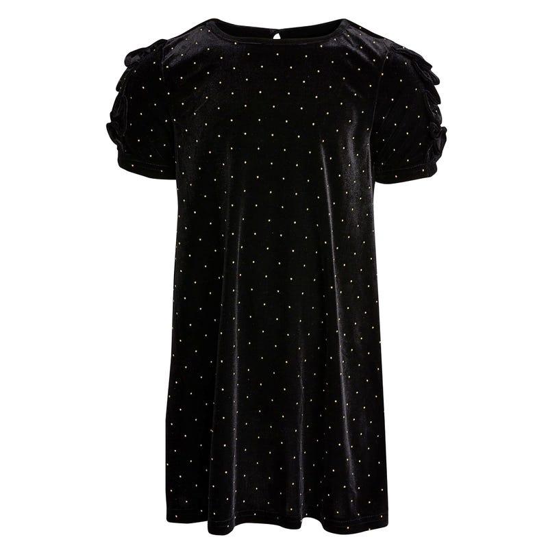 Glamour Velvet Dress 4-6y