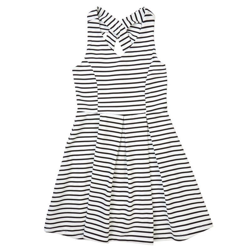 Bow Striped Dress 4-6y